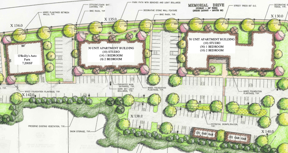 Concept Site Plan for Memorial Drive